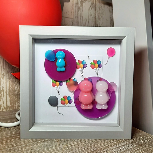Jelly Baby Picture (19x19cm) - Balloon Collection