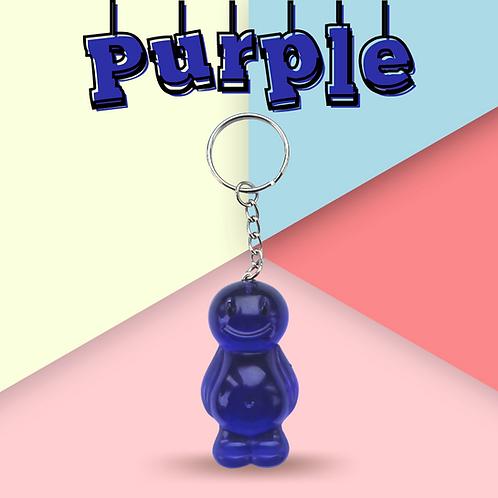 Purple Jelly Baby Keyring