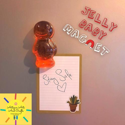 Orange Jelly Baby Magnet