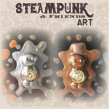 Steampunk Jelly Baby Art
