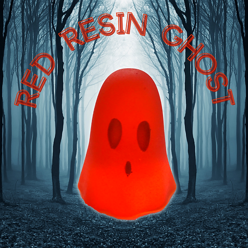 Red Resin Ghost Ornament