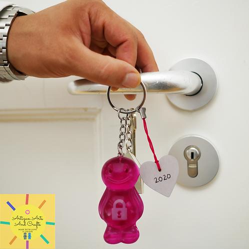Lockdown Pink Jelly Baby Keyrings