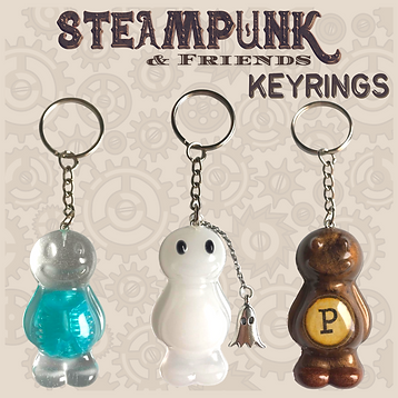 Steampunk Jelly Baby Keyrings