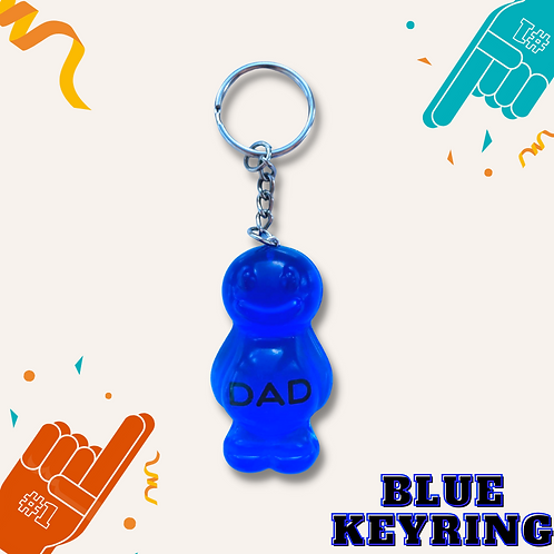 Dad Blue Jelly Baby Keyring