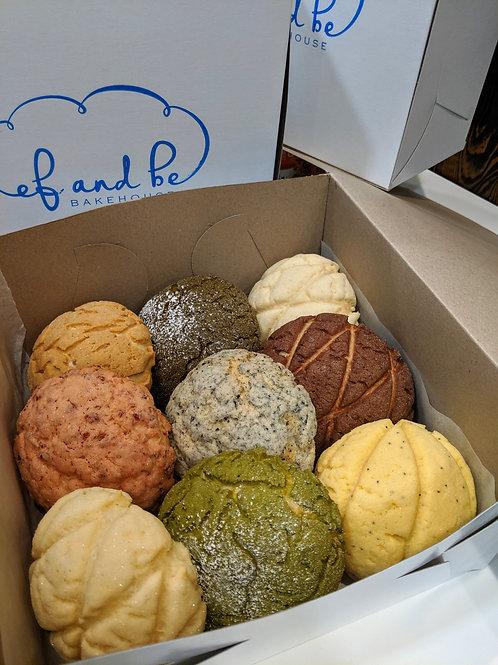 SATURDAY - Assorted Melon Pan Box - 9 pcs
