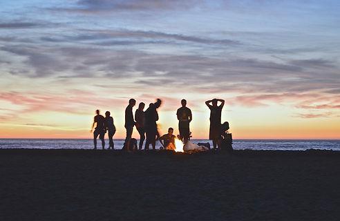 friends in the beach