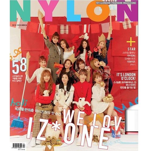 NYLON Korea Magazine Dec 2018 - IZONE