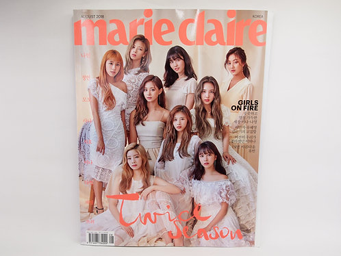Marie Claire 2018 Aug. Cover: Twice