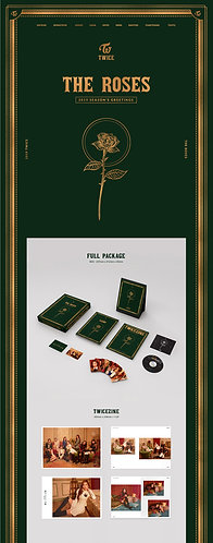 """TWICE OFFICIAL SEASON'S GREETINGS 2019 """"THE ROSES"""""""
