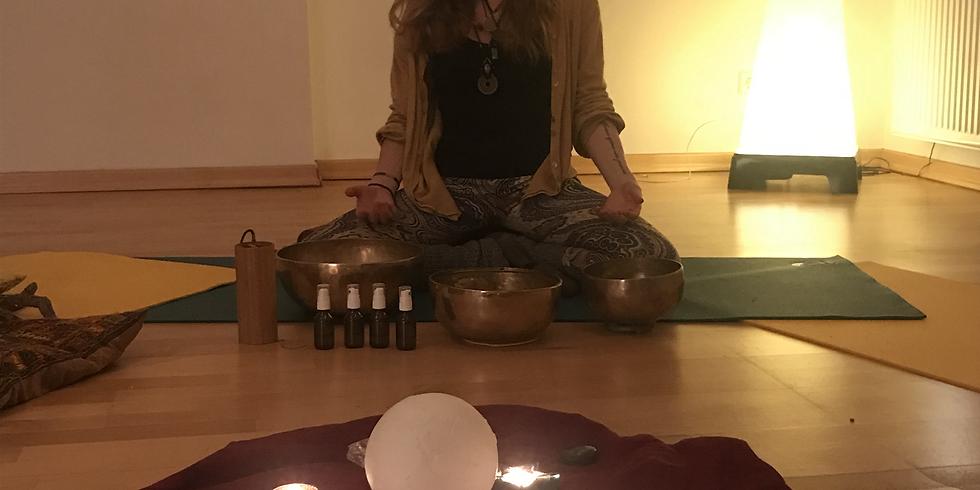 Geführte Meditation live - mit Klangschalen & ätherischen Ölen