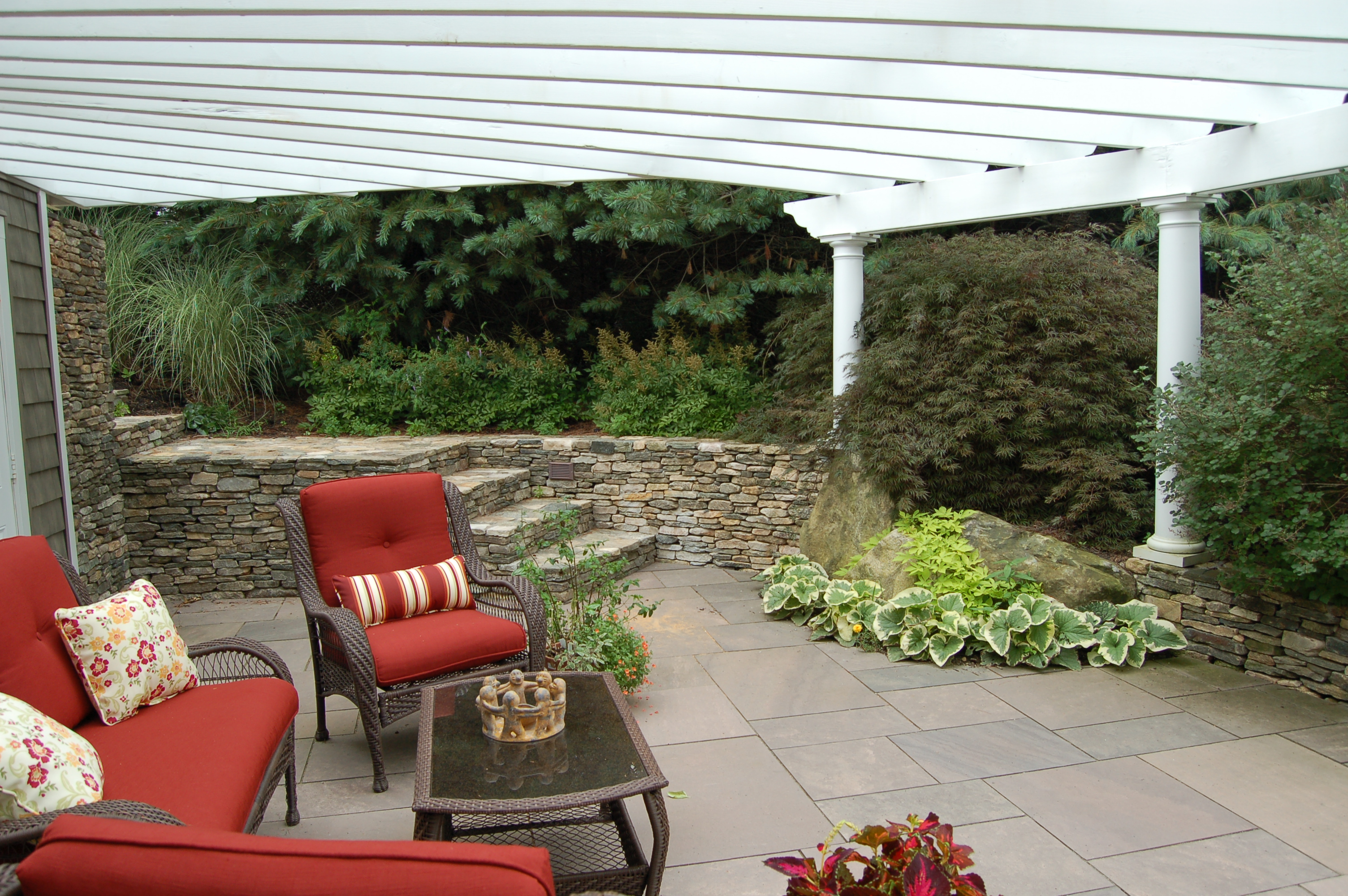 Lancaster Pergola Coverd Patio-1