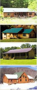 Custom Ranch Log Homes in West VIrginia