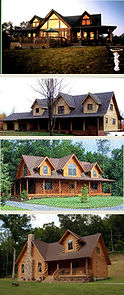 Custom Loft Log Homes in West VIrginia