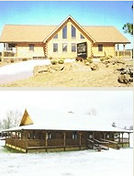 Custom Ranch Log Homes in West VIrginia