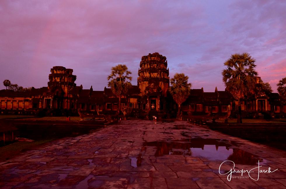 Ankor Wat Temple Cambodia sunset