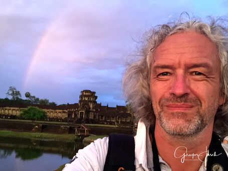 Angkor Wat Temple Cambodia Rainbow