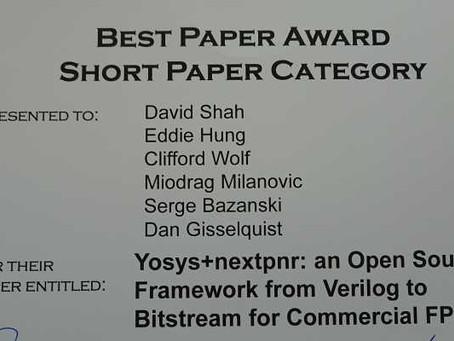 Best short paper award at FCCM