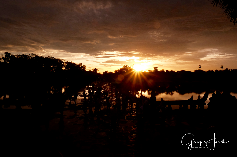 Angkor Wat Temple morning sun