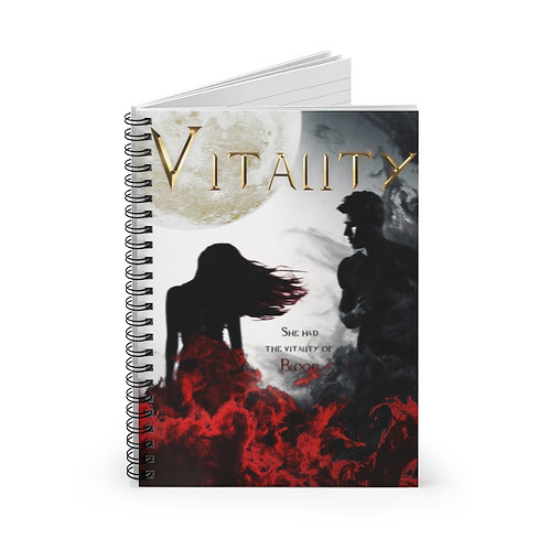 Vitality Spiral Notebook - Ruled Line - 118 Pgs