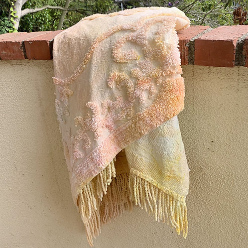 Seasonal Hand Dyed Chenille Throws