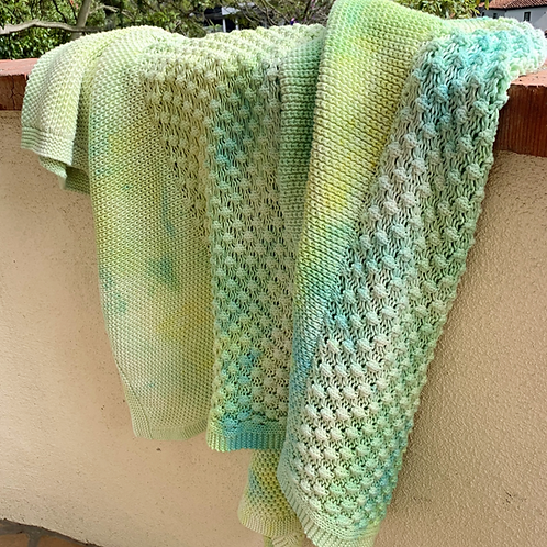 Seasonal Hand Dyed Cable Knit Throws