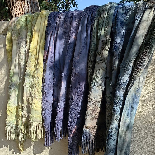 Hand Dyed Chenille Throws
