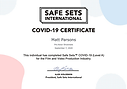 Matt Parsons Safe Sets Certificate Covid