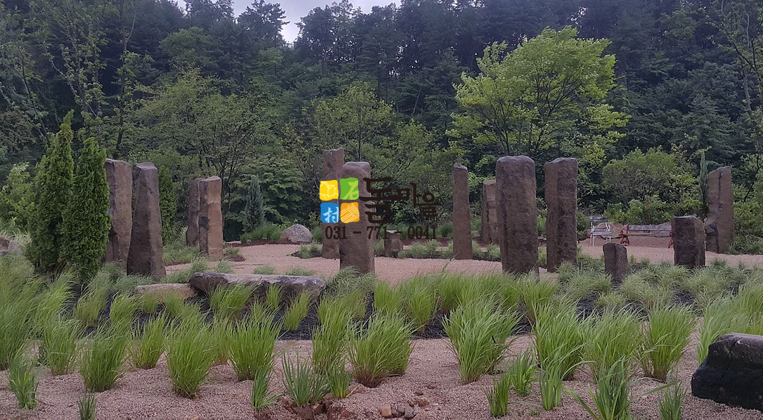 돌마을 주상절리 원석기둥