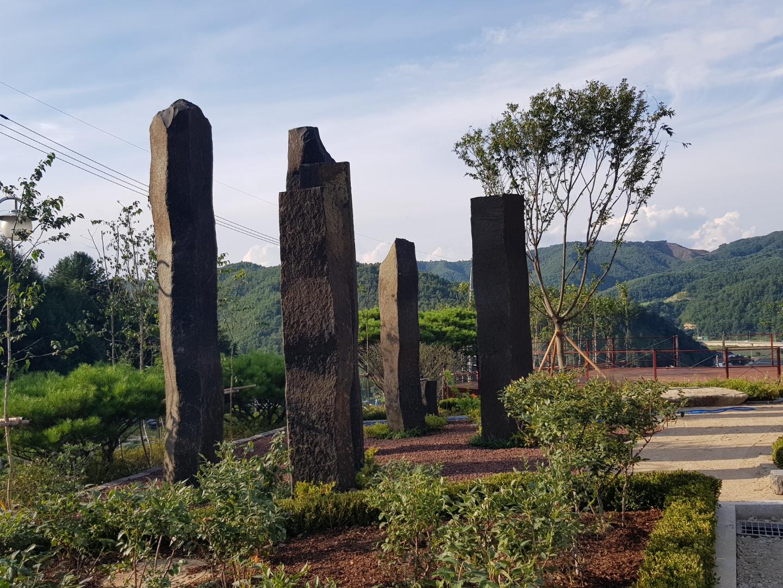 주상절리 원석 기둥
