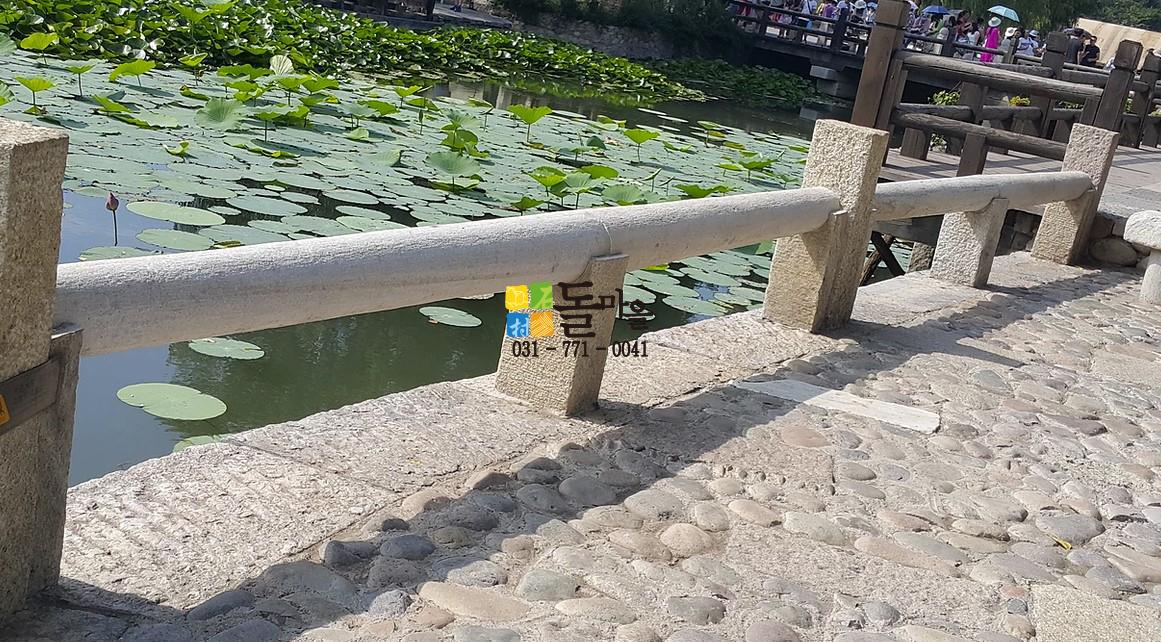 돌마을 원형 기둥