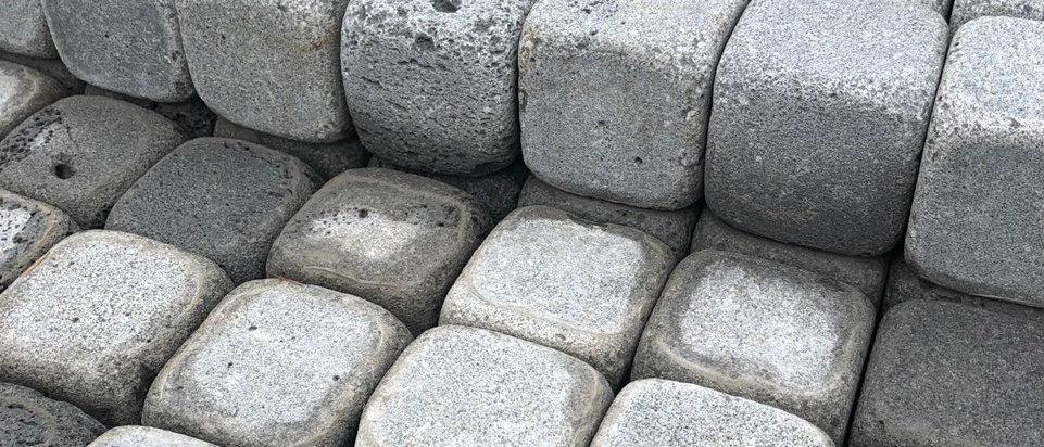 현무암 굴림 사구석