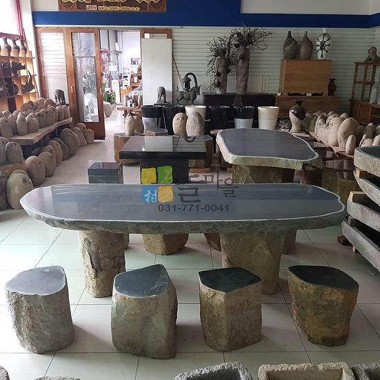 주상절리 원석 테이블 / 의자