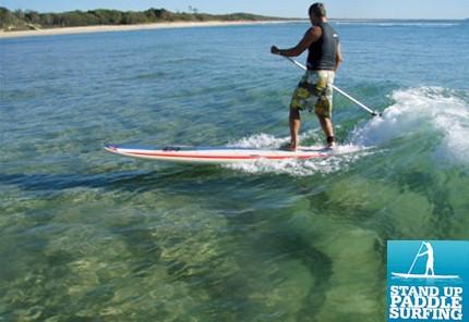 cours adultes de stand up paddle avec l'école de surf de Bretagne de Clohars Carnoet au pouldu dans le finistère sud