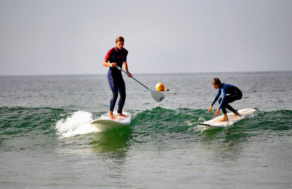 Stand Up paddle avec l'ecole de surf de Bretagne de Clohars Carnoet