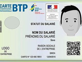 Les premières cartes d'identification professionnelle du BTP sont imprimées