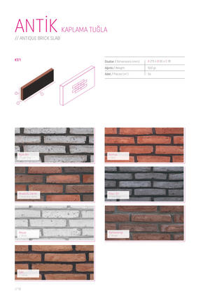 General Catalogue - Bricks:Clinker:Facad