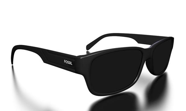 fossil full black glasses