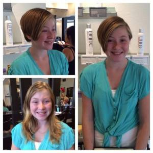 Before & After Girl's Hair