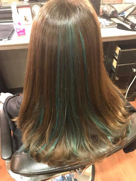Peekaboo Mermaid Blue & Haircut