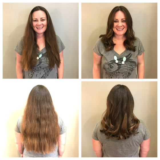 Long Hair Chopped into Layered Locks