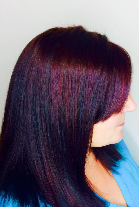 Dark Chocolate Color with Pinot Noir Highlights