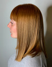 Golden Blonde Hair transformed to Coppery Red Locks