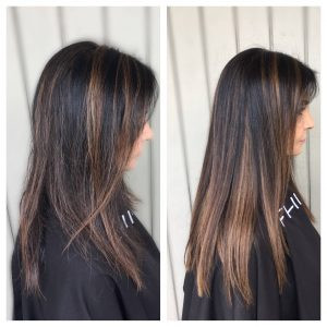 Before & After Hot Head Extensions