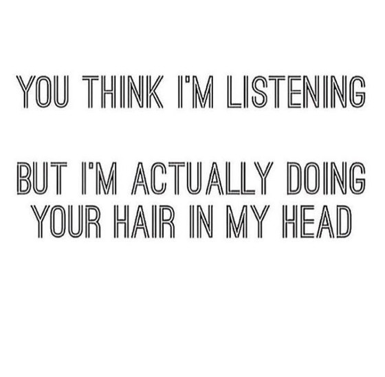 Thinking About Your Hair...
