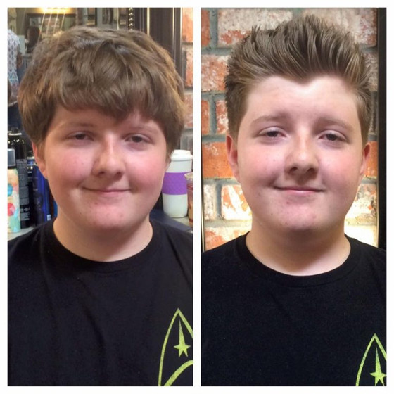 Before & After Teen Haircut