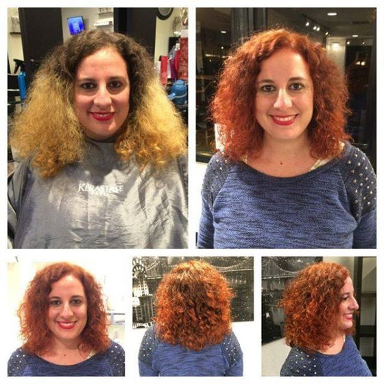 Before & After Color Correction and Haircut