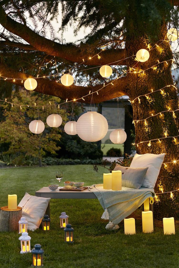 paper lantern garden  lights