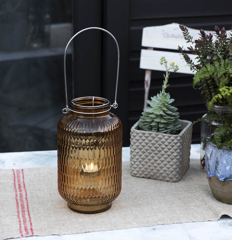 tealight holder for garden table