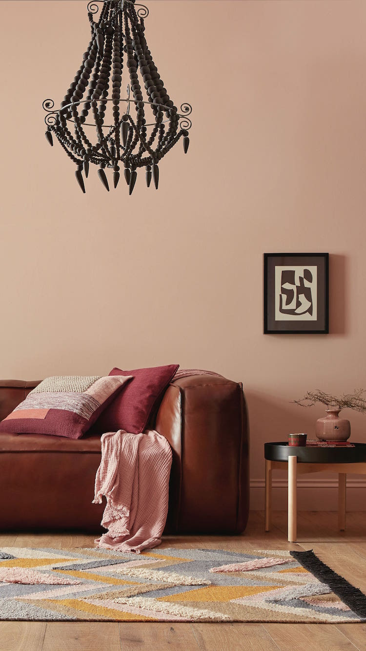2019 interiors colour trend pink