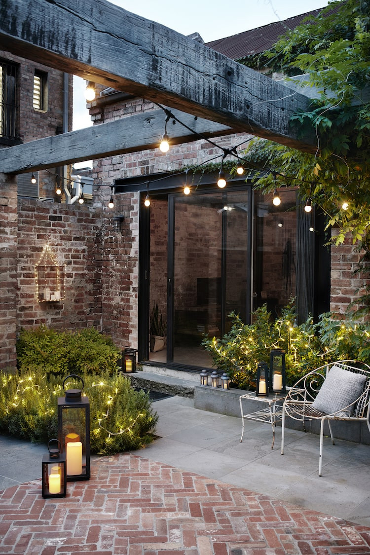 pergola and garden lights